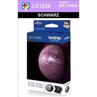 LC1220BK Brother Druckerpatrone black mit 300 Seiten Druckleistung nach ISO/IEC24711
