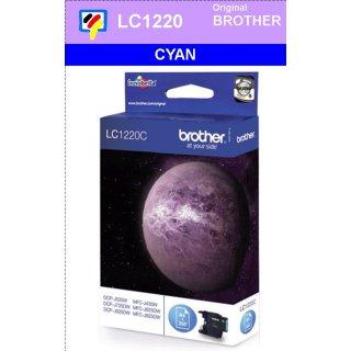 LC1220C Brother Druckerpatrone cyan mit 300 Seiten Druckleistung nach ISO/IEC24711