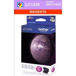LC1220M Brother Druckerpatrone Magenta mit 300 Seiten Druckleistung nach ISO/IEC24711