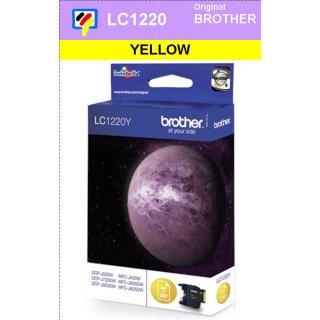 LC1220Y Brother Druckerpatrone Yellow mit 300 Seiten Druckleistung nach ISO/IEC24711