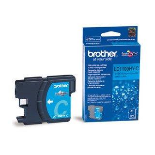 LC-1100HYC Brother Original Druckerpatrone cyan mit 750 Seiten Druckleistung nach ISO/24711 für Brother DCP6690CW, MFC5890CN, MFC6490CW, MFC6890CDW
