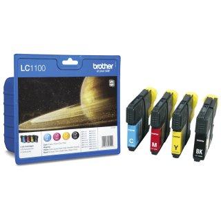 LC1100VALBPDR Brother Original Druckerpatronen Multipack mit 4 Patronen / 1x 450p bk+3x325p cmy nach ISO/24711 für Brother DCP185C, DCP385C, DCP585CW, DCP6690CW, MFC490CW, MFC790CW, MFC6490CW