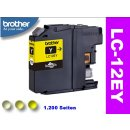 LC-12EY - Yellow - Original Brotherpatrone mit 1.200...
