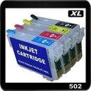 502XL Dr. Inkjet Easyrefillpatronen Multipack B/C/M/Y m. ARC