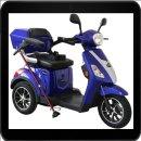 Rolektro - E-Trike 25 V.2, Farbe Blau, 1000 Watt / 60 V...