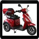 Rolektro - E-Trike 25 V.2, Farbe Rot, 1000 Watt / 60 V...