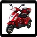 Rolektro, E-Trike 15 V.2, Farbe Rot, 500 Watt bis zu 60 km
