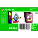 HP901CXL TiDis Ersatzpatrone Color mit 3x 8ml...
