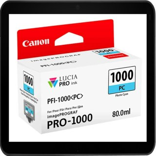 PFI1000PC - Photo Cyan - Canon Druckerpatrone mit 80ml...