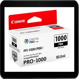 PFI1000PBK - Photo Black - Canon Druckerpatrone mit 80ml...