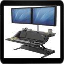 Höhenverstellbarer Schreibtischaufsatz schwarz...