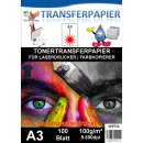 A3 Universal Tonertransferpapier - 100 Blatt für...