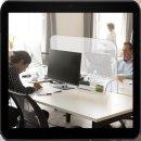 FRANKEN Spuckschutz transparent 49,5 x 84,5 cm für...