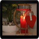 Dekovita, Glaslaterne, Valentin Edition, inkl. 18cm Roter...