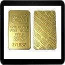 1 Unze vergoldeter Goldbarrenrequisit - Credit Suisse in...