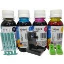 Multipack 400ml TiDis Ink Druckertinte BCMY + IRP109...