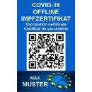 COVID-19 Offline Impfzertifikat / Offline Impfnachweis - auf PVC Karte gedruckt!