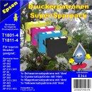 E164 - TiDis Ersatzpatronen Supersparpack - B/C/M/Y - mit...