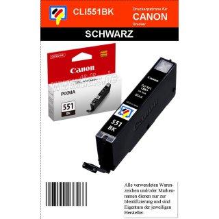 CLI551BK - schwarz - Canon Original Druckerpatrone mit 7ml Inhalt -6508B001-