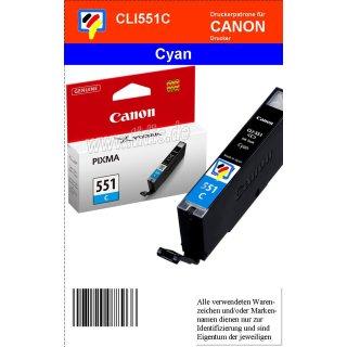 CLI551C - cyan - Canon Original Druckerpatrone mit 7ml Inhalt -6509B001-