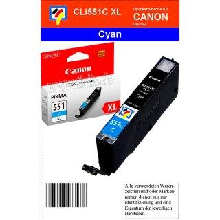 CLI551CXL - cyan - Canon Original Druckerpatrone mit 11ml Inhalt -6444B001-