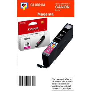 CLI551M - magenta - Canon Original Druckerpatrone mit 7ml Inhalt -6510B001-