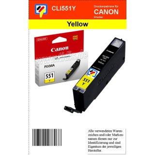CLI551Y - yellow - Canon Original Druckerpatrone mit  7ml Inhalt -6510B001-