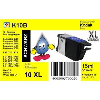 Kodak10BKXL - schwarz - TiDis Ersatzpatrone mit 15ml Inhalt