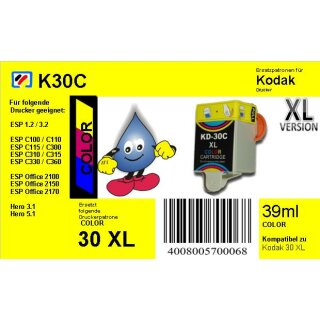 Kodak30CXL - color - TiDis Ersatzpatrone mit 39ml Inhalt