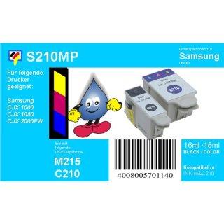 Samsung InkM215 & C210 - schwarz & color - TiDis Multipack mit 2 Patronen