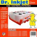 CISS / Easyrefillpatronen für PGI550 & CLI551er...