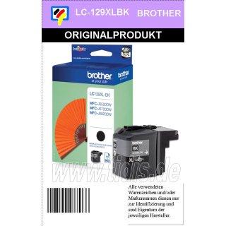 LC129XLBK Originale Brother Druckerpatrone black XL - 2.400 Seiten nach ISO