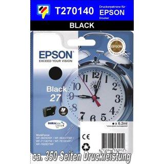 T270140 - black - Epson Druckerpatrone 6,2ml Inhalt für 350 Seiten Druckleistung - Durabrite Ultra