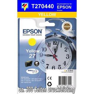 T270440 - yellow - Epson Druckerpatrone mit 3,6ml Inhalt für 300 Seiten Druckleistung - Durabrite Ultra