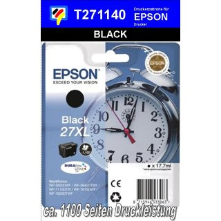T271140 - black XL - Epson Druckerpatrone mit 17,7ml Inhalt für 1100 Seiten Druckleistung - Durabrite Ultra