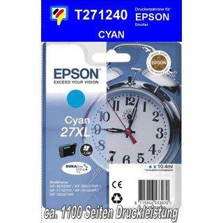 T271240 - cyan XL - Epson Druckerpatrone mit 10,4ml Inhalt für 1100 Seiten Druckleistung - Durabrite Ultra