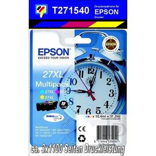 T271540 - cmy - 3er Multipack mit 3x10,4ml für 3x1100 Seiten Druckleistung - Durabrite Ultra