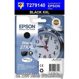 T279140 - black XXL - Epson Druckerpatrone mit 34,1ml Inhalt für 2200 Seiten Druckleistung - Durabrite Ultra