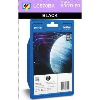 LC970BK - black - Brother Originalpatrone für 350 Seiten Druckleistung nach ISO 24711