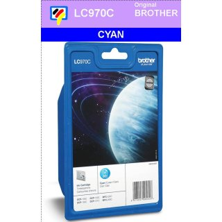 LC970C - cyan - Brother Originalpatrone für 300 Seiten Druckleistung nach ISO 24711