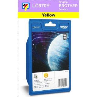 LC970Y - yellow - Brother Originalpatrone für 300 Seiten Druckleistung nach ISO 24711