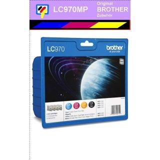 LC-970 Multipack mit 4 Original Brother Druckerpatronen