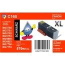 C160 - TiDis XL Ersatzpatrone schwarz mit ca. 500 Seiten...