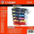 C166 - TiDis Multipack 5 XL Ersatzpatronen BBCMY -...
