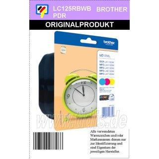 LC125XLRBWBPDR 3 Farb Multipack - je 1x C/M/Y mit 1.200 Seiten Druckleistung nach ISO
