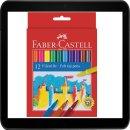 FABER-CASTELL Filzstifte 1 Pack = 12 Stück Packung
