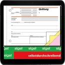sigel Formularbuch SD023 Quittung, MwSt. separat...