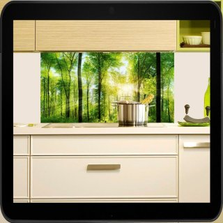Herd Spritzschutz spritzschutz für die küche motiv waldpanorama herdspritzschutz