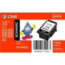 PG545XLBK - schwarz - TiDis Recycling Druckerpatrone mit...