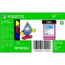 HP302CXL TiDis XL Recyclingdruckerpatrone Color mit 21ml...